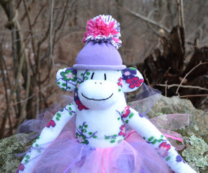 ballerina, Sock Monkey, and sockmonkey image