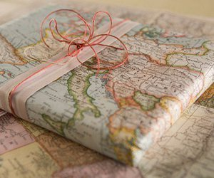 map, gift, and present image