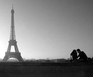couple, eiffel tower, and photography image