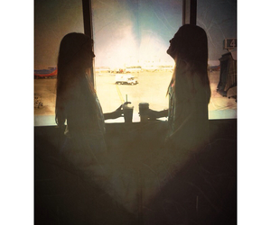 airport, best friends, and starbucks image