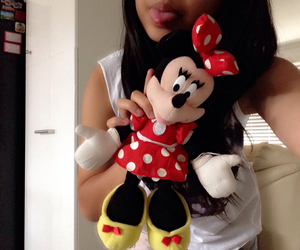 minnie mouse, plush toy, and tumblr image