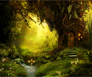 fantasy, green, and tree image