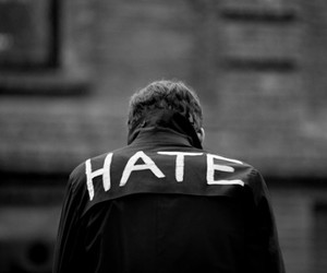 hate, black and white, and boy image