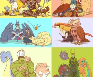pokemon, Avengers, and iron man image