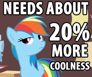 coolness, my little pony, and rainbow dash image