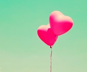balloons, cover, and hearts image