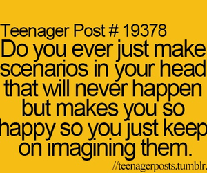 teenager post, imagine, and happy image
