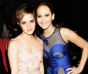 emma watson, Jennifer Lawrence, and harry potter image