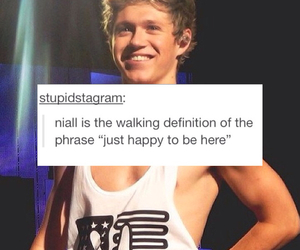 niall horan, happy, and one direction image