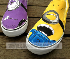fashion shoes, slip on shoes, and despicable me image