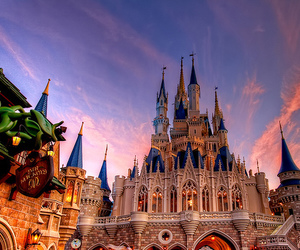 castle, disney, and love image