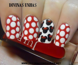 minnie, nails, and cute image