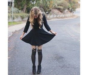 autumn, blonde, and booties image