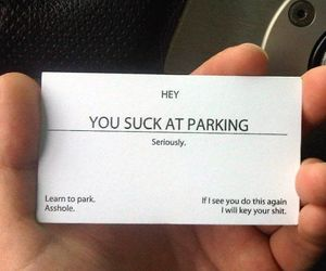 funny, lol, and parking image