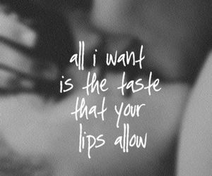 lips, love quote, and give me love image
