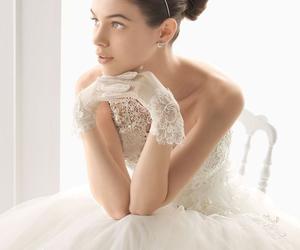 wedding dress, beautiful, and wedding image