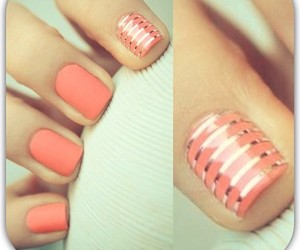 nails, matte, and cute image