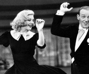 fred astaire, swing time, and ginger rogers image