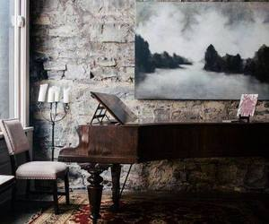 piano, home, and room image