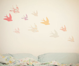 bird, bed, and bedroom image