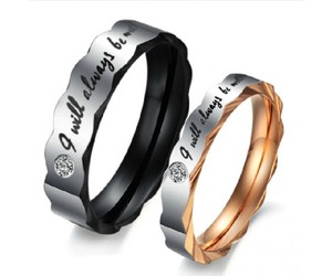 titanium rings and lovers rings image