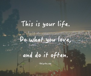 life, love, and quote image