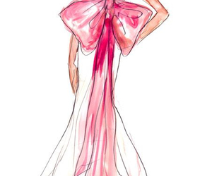 pink, dress, and drawing image