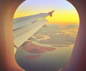 plane, travel, and nyc image