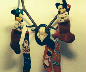 christmas, minnie mouse, and mickey mouse image
