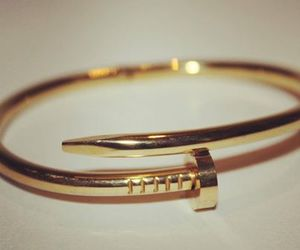 bracelet, gold, and Nagel image