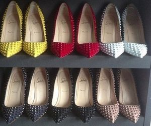 louboutins, red bottom, and high heels image