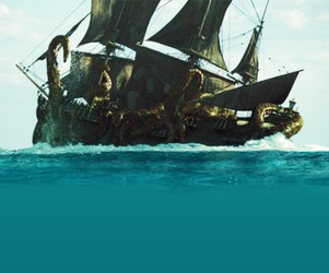 kraken, pirates of the caribbean, and black pearl image