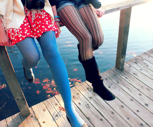 girl, legs, and friends image