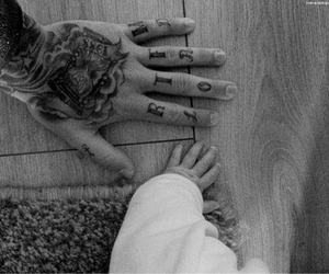 tattoo, baby, and hands image