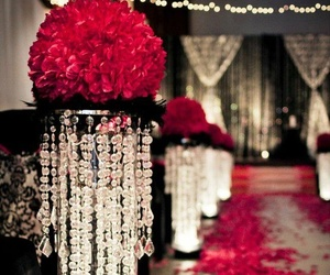 wedding, red, and rose image