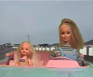 baby, barbie, and car image