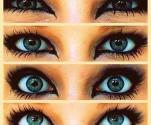 eyes, green, and makeup image