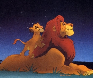 heaven, stars, and lion king image