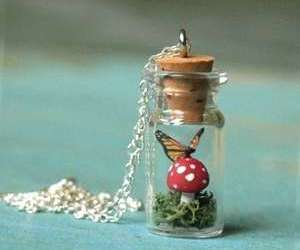 butterfly, bottle, and necklace image
