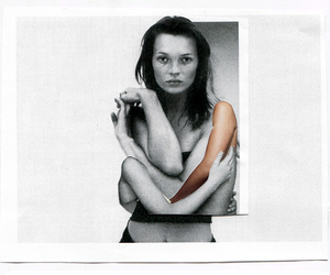 kate moss and black and white image
