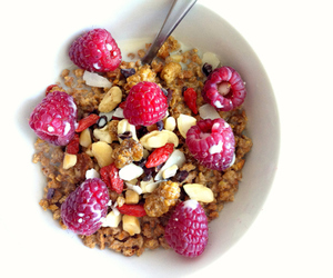 food, healthy, and raspberry image