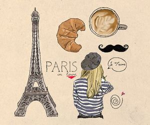 paris, france, and moustache image