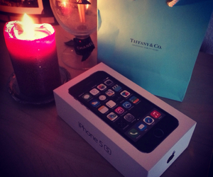 apple, tiffany, and candle image