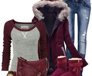beautiful, snow, and clothes image