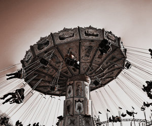 chairoplane, sepia, and Dream image