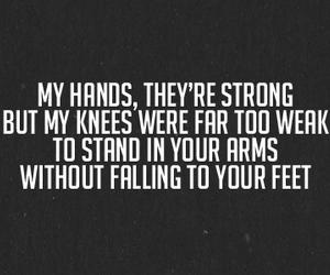 Lyrics, quote, and sad image