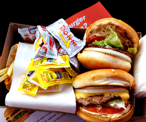 food, burger, and fast food image