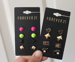 forever 21, earrings, and accessories image