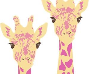 giraffe, art, and pink image