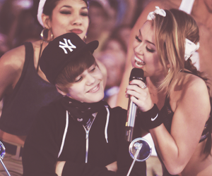 miley cyrus, true love, and justin bieber image